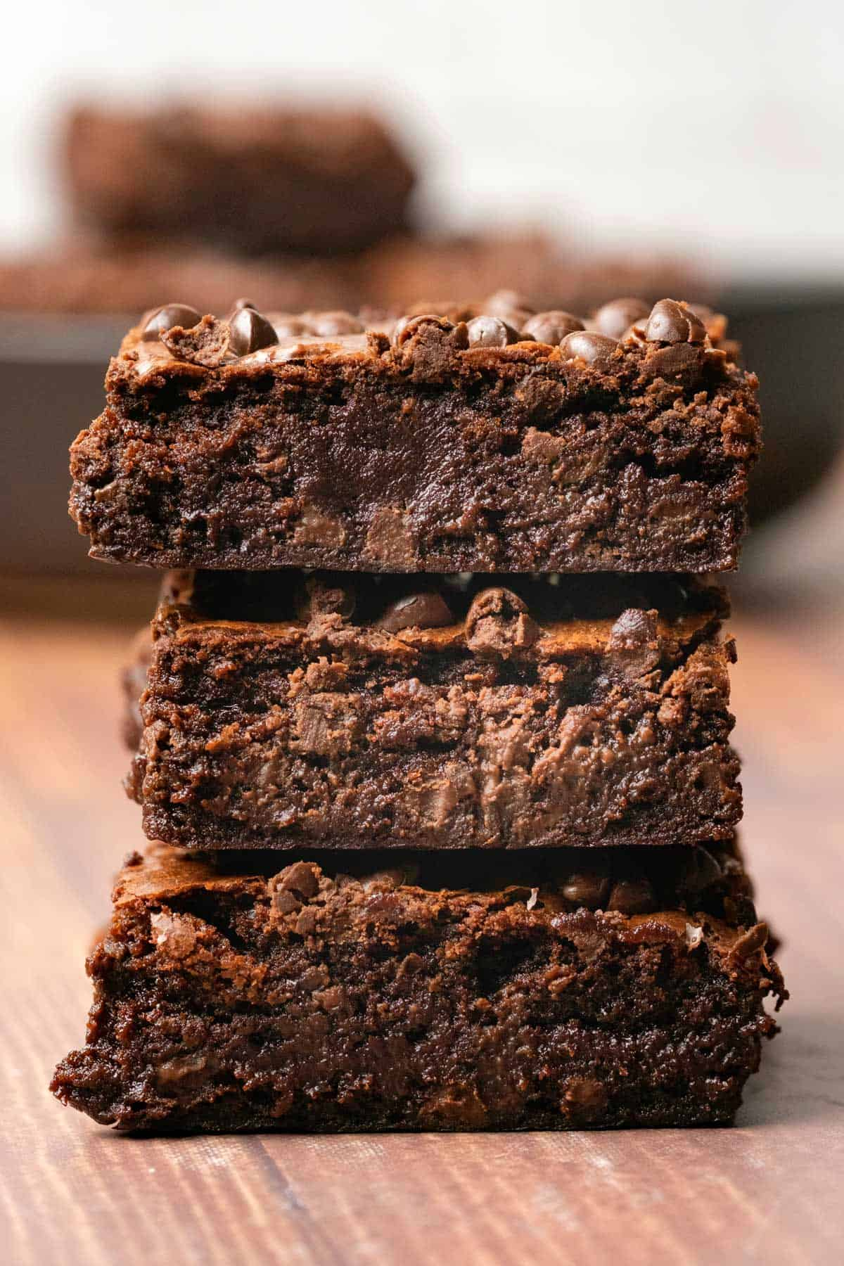 Brownies in a stack.